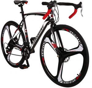 Euro Bike LZ-550 Steel Bicycle disc Brake 21 Speed Road Bike