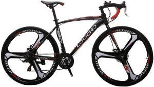 LOOCHO 21 Speed 3-Spoke Road Bike for Men and Women 700C Wheels Urban City Commuter Dual Disc Brake Fitness Bike