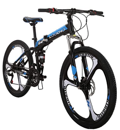 LOOCHO 21 Speed Foldable Mountain Bike