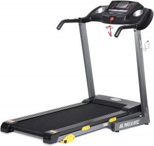 Maxkare folding treadmill with screen
