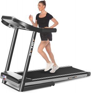 SYTIRY treadmill with a 10-inch display